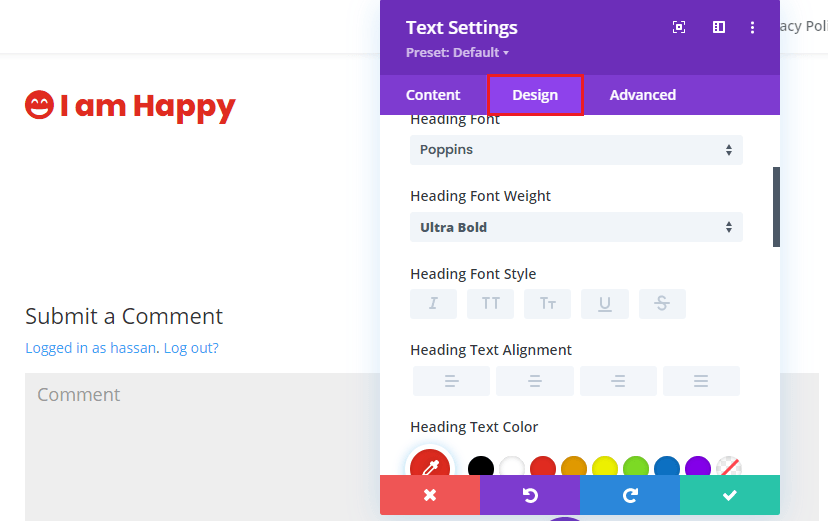 divi font awesome customizations