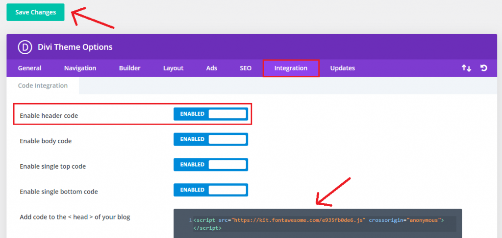 add font awesome to Divi theme