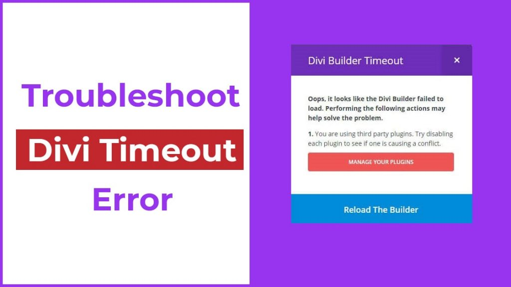 solve divi builder timeout issue