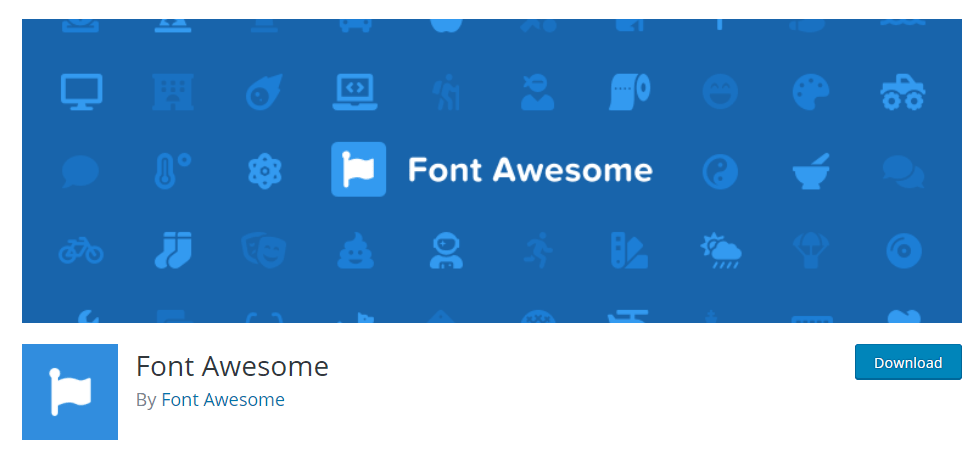 font awesome plugin