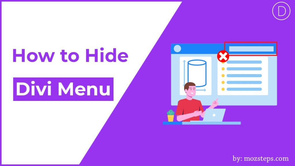 hide divi menu